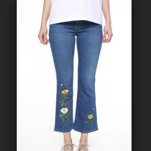 Stella McCartney Embroidered Crop Jeans 27 Fit 0/2